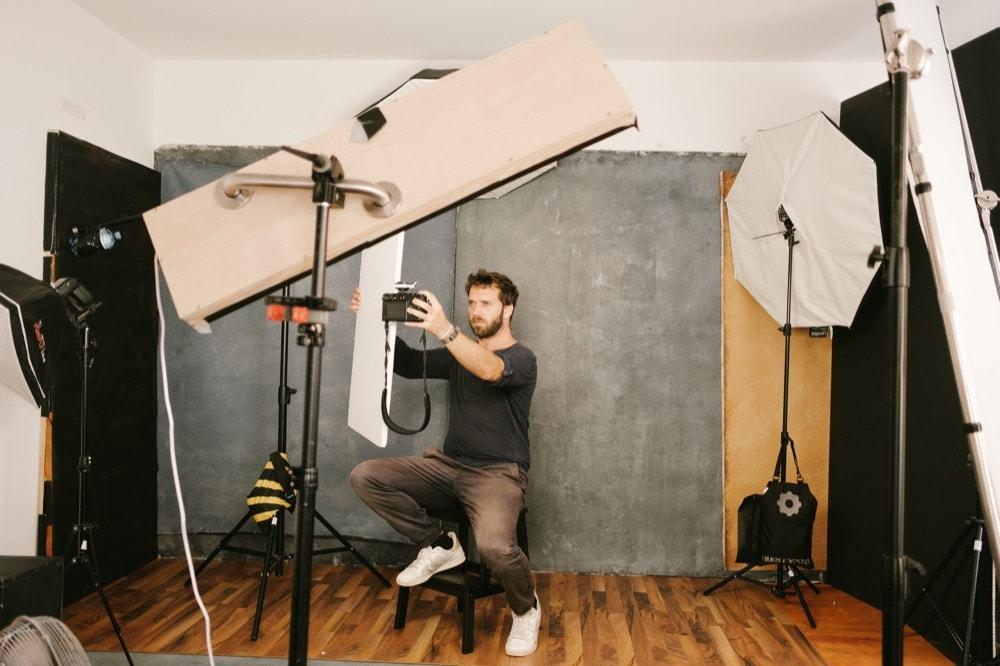 Studioselfie - behind the scenes im Fotostudio Mikulitsch in 3100 St. Pölten.